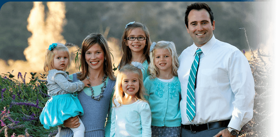 Dothan AL Dentist Nathan Pfister with his Family
